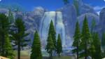 Blick auf den Wasserfall vom Aussichtsturm des Waldmuseums