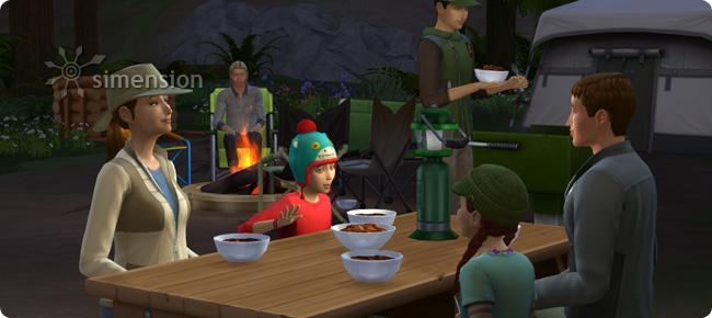 Die Sims 4 Outdoor-Leben mit Würstlparty