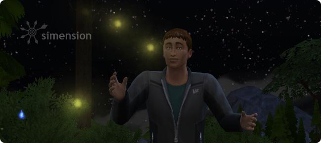 Insekten fliegen in Abhängigkeit von der Tageszeit in Die Sims 4