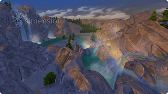 weitere Umgebung des Einsiedlers mit Wasserfällen