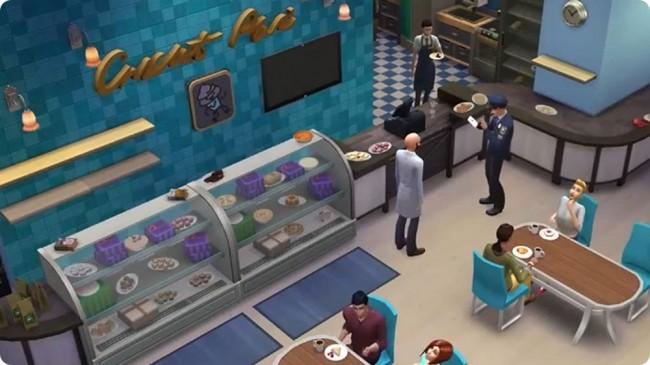 Beim Konditor / in der Bäkerei können deine Sims selbstgebackene und -gekochte Köstlichkeiten verkaufen oder eben auch verzehren.