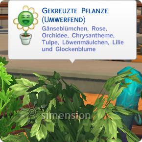 Die Sims 4 Gartenarbeit mit vielfach veredelten Pflanzen