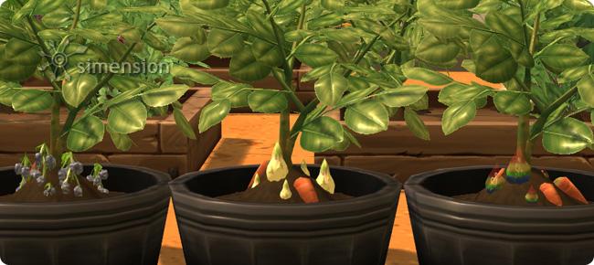 hochwertig veredelten Pflanzen eines Gärtners in Die Sims 4