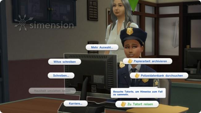 Die Sims 4 Aktive Karriere Polizist