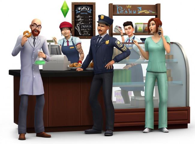 Wissenschaftler, Polizist und Arzt als neue aktive Karrieren in Die Sims 4 An die Arbeit