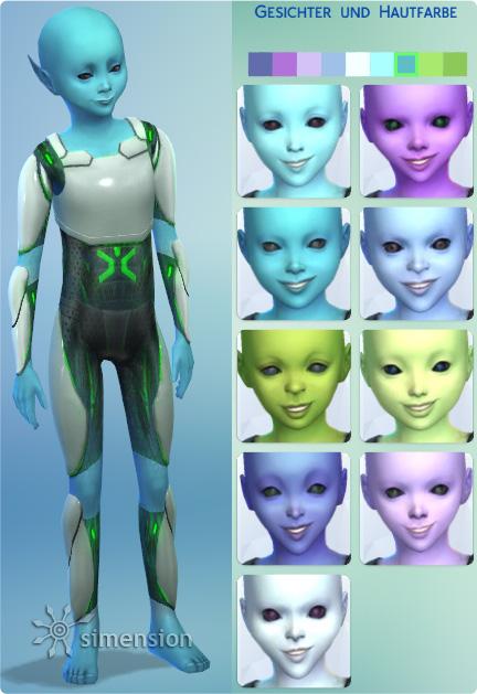 Aliens aller Altersstufen im CaS erstellen