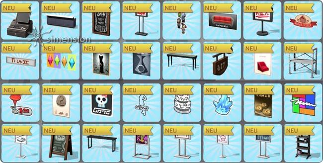 Kauf-Modus mit vielen Objekten für eigene Geschäfte