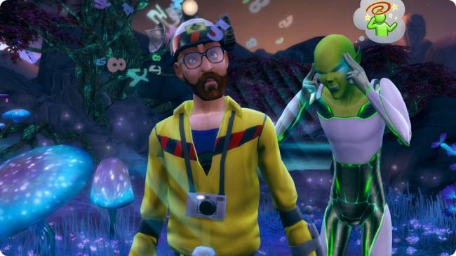 Sims 4 An die Arbeit mit der Kreatur Aliens