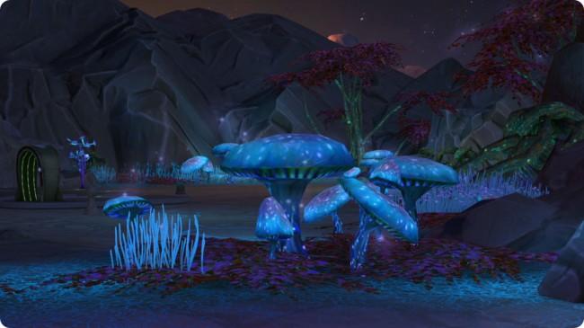 An die Arbeit mit Versteckten Grundstück Alienwelt