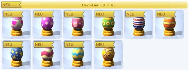 neue Sammlund Deko-Eier