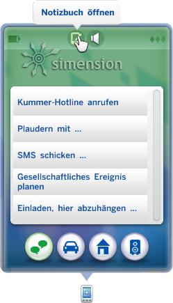 Sims 4 Notizbuch aufrufen