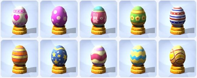 komplette Sims 4 Sammlung Deko-Eier