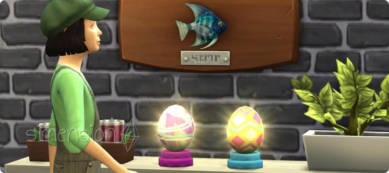 Erweiterung der Sims 4 Sammlung Deko-Eier um 2 weitere Sammelobjekte