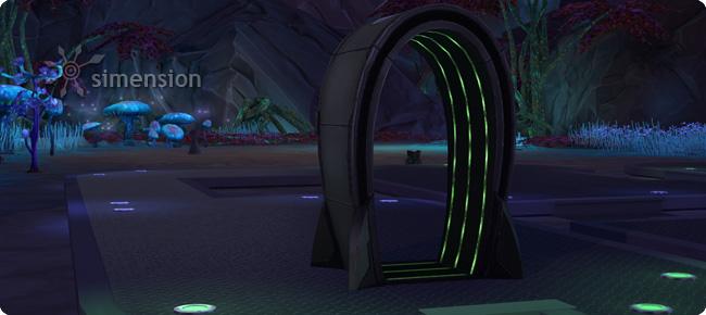 Verstecktes Grundstück Alienwelt verlassen