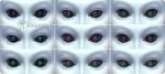 verschiedene Pupillenvarianten der Außerirdischen