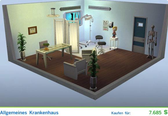 Die Sims 4 Vorgefertigter Raum für Ärzte: Allgemeines Krankenhaus