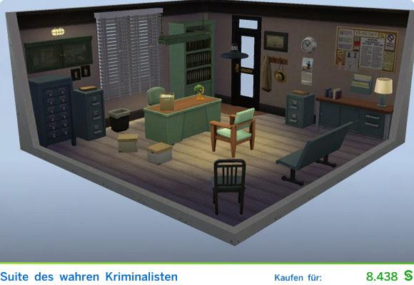 Die Sims 4 Vorgefertigter Raum für Ärzte: Suite des wahren Kriminalisten