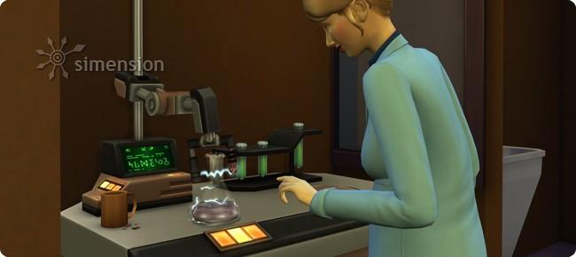 Chemielabor in der Sims 4 Karriere Wissenschaftler