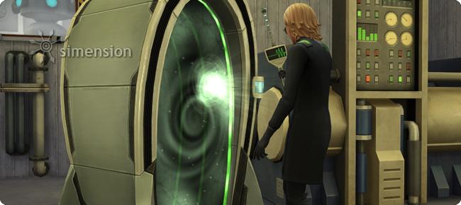 Sims 4 Erfindung Elektroflux-Wurmloch-Generator der Wissenschaftler