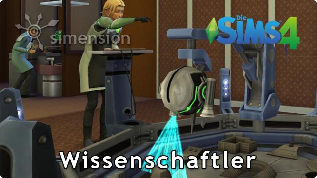 Sims 4 An die Arbeit Karriere Wissenschaftler