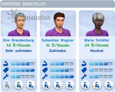Angestellte verwalten in Die Sims 4