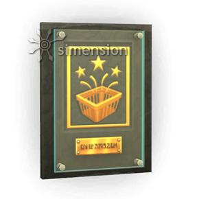 """Sims 4 Geschäftsvorteil Plakette """"Kaufrausch"""""""