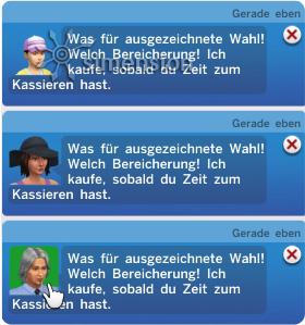 Sims 4 Eigenes Geschäft mit Anzeige kaufwilliger Kunden in den Informationen