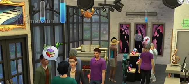 Kunden mit Kaufinteresse in Die Sims 4 An die Arbeit