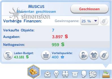 Sims 4 Eigenes Geschäft über das Einzelhandel-Fenster managen