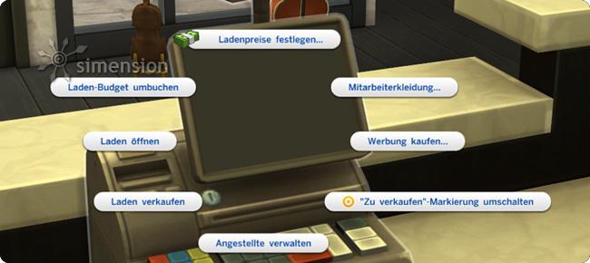Sims 4 Eigenes Geschäft über die Ladenkasse managen