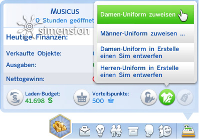Sims 4 Eigenes Geschäft: Mitarbeiterkleidung zuweisen