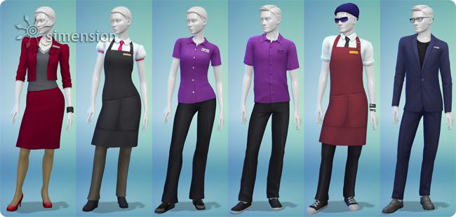 Die Sims 4 Mitarbeiterkleidung entwerfen