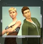 Pose zweier Erwachsener im Fotostudio