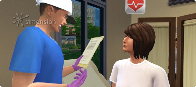 Sims 4 Arzt beim Diagnose stellen