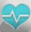 blaues Herzsymbol für nicht diagnostizierte kranke Sims