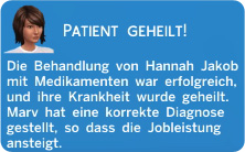passende Diagnose und Behandlung führt zum Ergebnis Patient geheilt