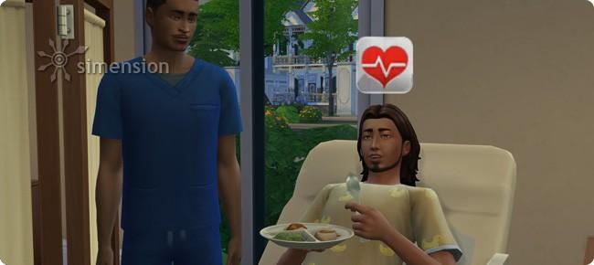 Patientenversorgung auf niedrigen Stufen der Sims 4 Karriere Arzt