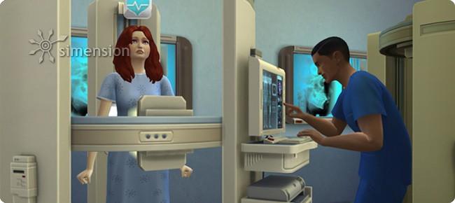 Sims 4 Arzt: Röntgenuntersuchung anordnen und durchführen
