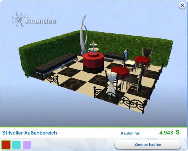 Die Sims 4 Luxus-Party-Accessoires - neues Gestaltetes Zimmer Stilvoller Außenbereich