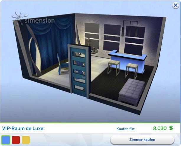 Die Sims 4 Luxus-Party-Accessoires - neues Gestaltetes Zimmer VIP-Raum Deluxe