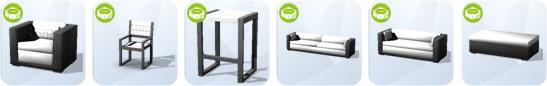 Die Sims 4 Sonnenterrassen-Accessoires - neue Oberflächen