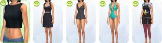 Die Sims 4 Sonnenterrassen-Accessoires - neue Kleidung für Frauen