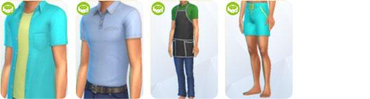 Die Sims 4 Sonnenterrassen-Accessoires - neue Kleidung für Männer