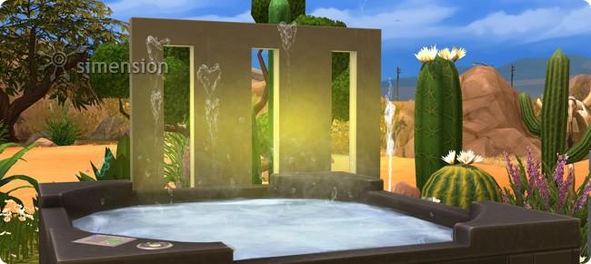 Die Sims 4 Sonnenterrassen-Accessoires mit Techtelmechtel im Whirlpool