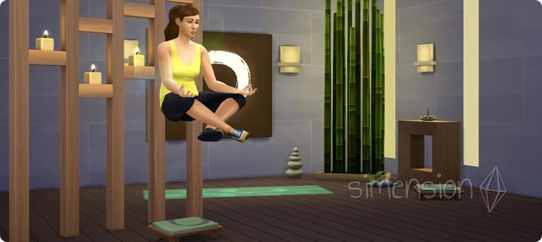 Sims 4 Fähigkeit Wellness mit Levitation durch Meditation