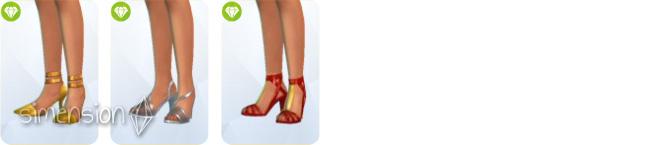 Sims 4 Luxus-Party-Accessoires mit 3 Schuhpaaren für Frauen