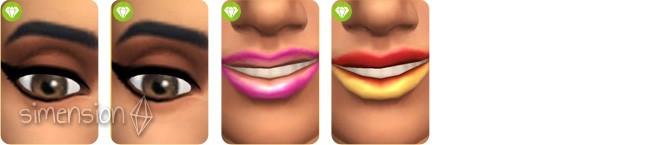 Sims 4 Luxus-Party-Accessoires mit 2 neuen Eyelinern und Lippenstiften für Frauen