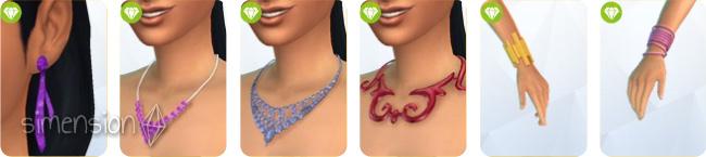 Sims 4 Luxus-Party-Accessoires mit 6 Schmuckstücken für Frauen