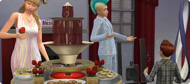 Die Sims 4 Luxus-Accessoires mit Fondue