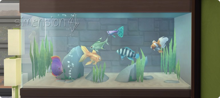 Die Sims 4 Wellness-Tag mit Aquarien